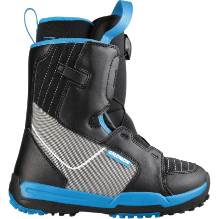 Snowboard Salomon designed the Kids' Talapus Snowboard Boot using the theory that simpler is better, especially for the young, aspiring rider. The Talapus uses a soft, forgiving flex, a simple lacing system, and a basic liner that makes snowboarding easier and more accessible to your up-and-coming ripper. - $65.94