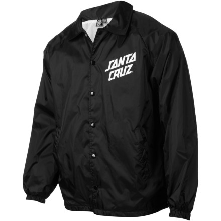 Entertainment The Santa CruzStrip Coach Windbreaker will shield your fragile mortal epidermis from getting chilled from cold breezes and chilly nighttime air. You should feel very lucky this blessing has been presented to you. - $44.95