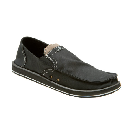 Entertainment Pull on the Sanuk Mens Pick Pocket Shoe and hide your key, ID, or other small goodies in the top stash pocket. This soft-soled sandal shoe comes on and off easily for hanging at the crags or chilling on the beach, and the heel section folds down when you feel like rocking the slip-on. - $64.95