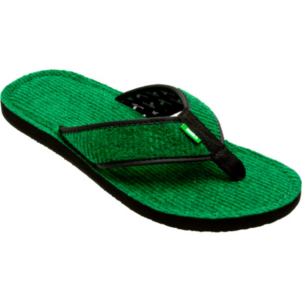 Entertainment Sanuks Fur Real II Sandal provides a new take on classic comfort, like amping up the distortion on your electric guitar while covering stuff you hear on the local classic rock station. Your feet will find it hard not to purr like a bass against the shag bottoms of the Sanuk II. - $19.17
