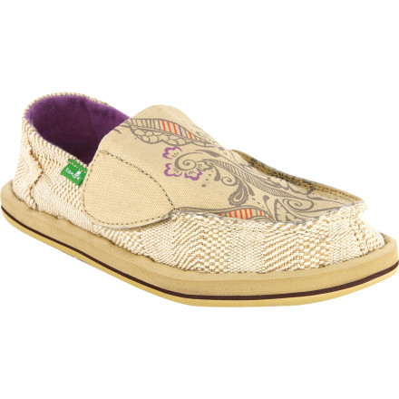 The Sanuk Girls' Scribble Shoe features the same foot-loving design as the older folks version but with an easy-to-use pull tab for getting a little foot in and out with any trouble. Which means she can get probably slide them on faster than you can slide your shoes on. This sidewalk surfer boasts simplistic style and amazing benefits for the foot. - $26.37