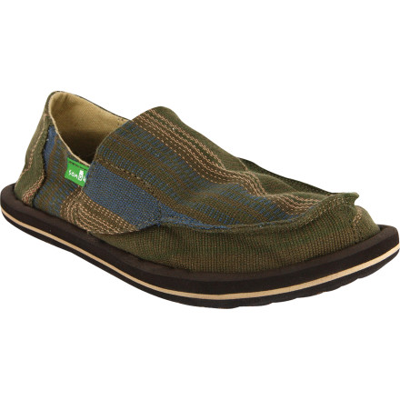 Surf When your kid doesn't like to wear shoes, but it's the last thing you want to get calls from school about, then set him up with the Sanuk Donny Shoes. This lightweight shoe feels like a sandal, and your kid will be happy to slide a pair of them on when the teacher starts looking for trouble. - $26.37