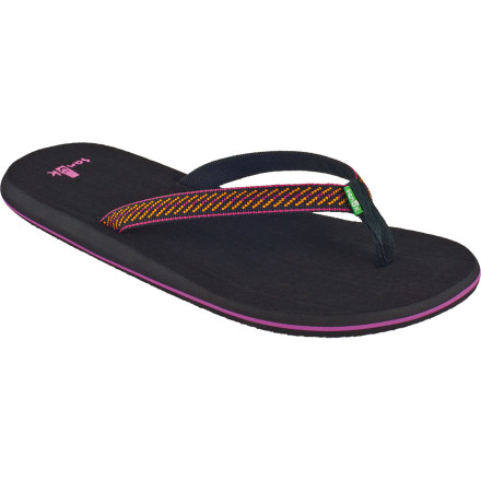 Surf Blistering-hot sand, aggressive crabs, and sand spurs all threaten your journey to the margarita stand, but the Sanuk Women's Sandpiper Sandal protects you during the many treacherous trips you take. - $14.37