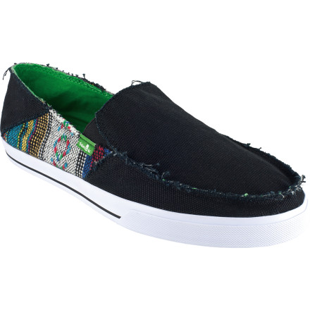 Skateboard Re-setting the standard of casual footwearlooking anything but. The Sanuk Standard Raw Shoe is a cross between the famed Sidewalk Surfer slip-on and your favorite pair of vulc skate shoes. - $33.57