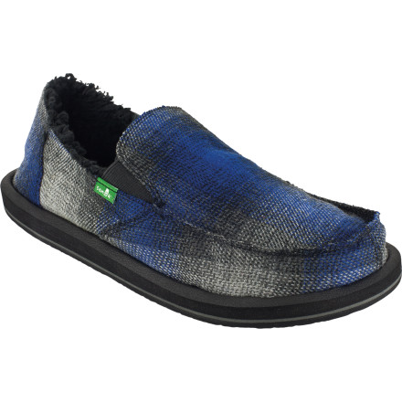 Entertainment Throw on your robe and slip into the Sanuk Timber Chill Slipper, pull up a chair beside the fireplace, and regale the children with tales from your boyhood. - $32.48