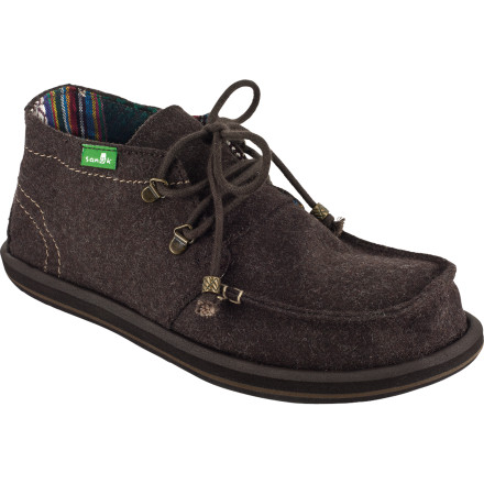 The Sanuk Women's Bedouin Shoe blends the silhouette of a classic chukka and the vibe of a sidewalk surfer to equal a unique piece of footwear that can hold it down on the beach and make moves away from it, too, without missing a step. - $32.48