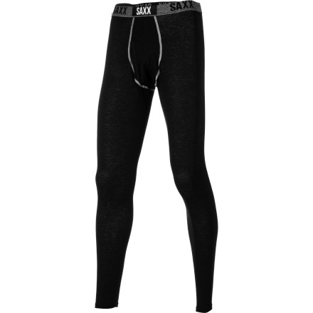 Do yourself a favor and make your day at the mountain more enjoyable with the Saxx Black Sheep Men's Long John Bottom. It's made with luxuriously soft modal blended with merino wool for its breathable, warmth-regulating properties, so you stay warm on the chairlift, but don't get hot and drenched when you're charging down the mountain. - $79.95