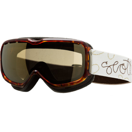 Snowboard If function and fashion are equally important to you, turn to the Scott Women's Aura Plus Goggle. Its extra stylish flare mixes with exceptional clarity and depth for carving groomers, exploring untracked terrain, and hunting for powder stashes. - $76.97