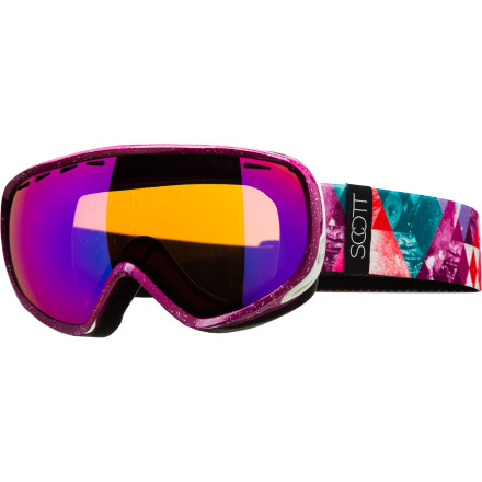 Snowboard Designed to look good from the inside and out, the women-specific Scott Dana Plus Goggle packs an arsenal of high-tech features that will keep your day at the mountain fog- and worry-free. The 'Plus' means added style with special edition frame and strap graphics. - $90.97