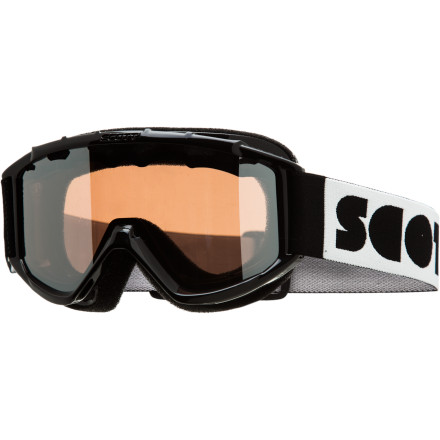 Ski The Scott Jr. Hookup Goggle aids in your grom's powder adventure whether he or she is on two planks or one. The Jr Hookup fits over a helmet, and the snug hypoallergenic face foam will stay comfortable all day long without letting in any snow during a good wipeout. - $31.47