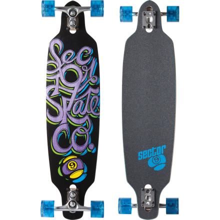 Skateboard Sector 9 built the super-carvy Fraction Longboard to compliment the Gullwing Sidewinder trucks for slalom-worthy turns with no wheel bite. - $228.95