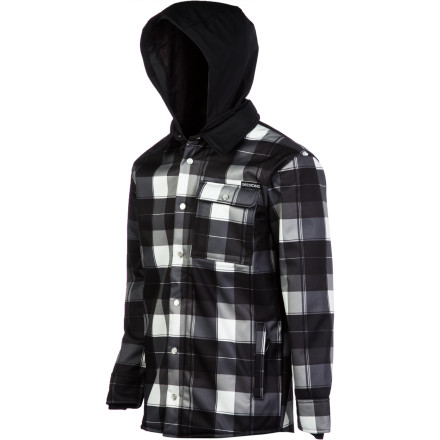 Camp and Hike You don't need a heavy shell or a bulky down jacket when April comes around and you're hiking the pipe. The Sessions Outlaw Plaid Softshell Jacket won't overheat you when you need light breathable protection during the warm spring skiing months. - $75.98