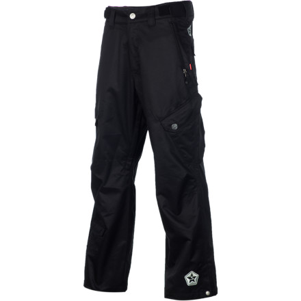 Snowboard The Sessions  Gridlock Pant laughs at nasty weather with 15K waterproofing, strategically taped seams, and Suspension boot gaiters. Sessions even included a RECCO avalanche device for an added measure of safety in the backcountry. - $84.98