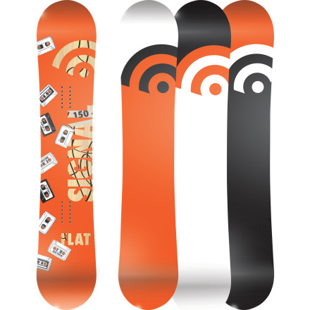 Snowboard The name of the Signal Flat Park Snowboard says it all. It's flat, and it's made to shred the park. The flat profile provides edge hold and stability so you're not washing out all over the place like on rockered boards, and it's also more playful and forgiving than a cambered board. It's soft flex lets you get your presses locked in super hard, but it's still durable enough to take a beating on the streets when snow falls in the city. - $221.97