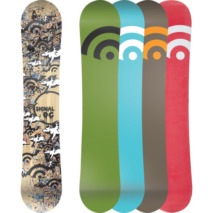 Snowboard Do the little boards that the scrawny skinny-pant kids are riding just feel like wet noodles to you Get the power and snap you crave without worrying about toe drag with the Signal OG Series Wide Snowboard. Traditional camber and a snappy poplar core deliver tons of pop so you can show these rail rats what a real ollie is. - $269.97