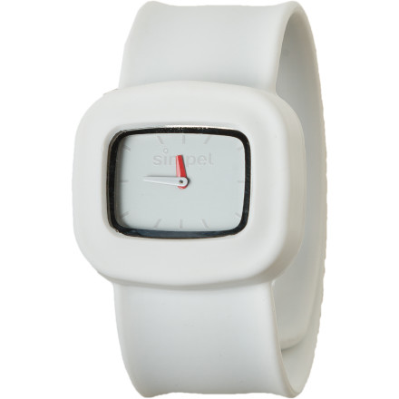 Entertainment Take a trip back to 1990 A.D. with the Simpel Switch Snow Watch. Well, actually, the slap-factor in this neat-o watch holds up way better than the trendy bracelets of yore, and those bracelets weren't cool water-resistant timepieces. The Simpel Switch Snow Watch features a swap-able face that's compatible with the rest of the Simpel watch linebecause mixing and matching is fun. - $15.00