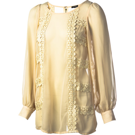 Since you're not in the mood to wear a skirt, look to the Sitka Women's Meri Long-Sleeve Shirt to give you a romantic, feminine appearance for your date. - $55.96