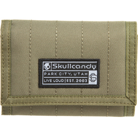 Entertainment Put your bills, coins, plastic, and ID in the Skullcandy Men's Tri-Fold Wallet and get out there and spend it. Skullcandy's Tri-Fold wallet is the small, concealable way to hold your moolah when you're not posing as a big spender. - $13.95
