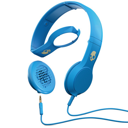 Entertainment Skullcandy Cassette Headphones are loaded with a mic for your calls and big 40mm drivers for full, rich, brain-shaking sound. The Cassette's speakers can be used in Skullcandy's Home Brew Kit hoodies and beanies to blend into what you're wearing. - $49.95
