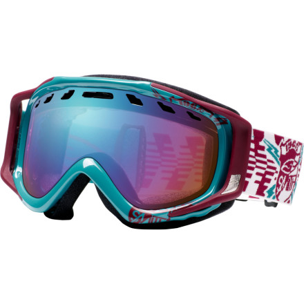 Ski Go huge under the lift in the Smith Stance Goggles. The Stances impact-and-scratch-resistant Carbonic-X lenses will help you keep your landing in sight, so you dont embarrass yourself before the aprs-ride meat market. Even if things get a little steamy later, the Stances adjustable Regulator air flow system will keep your vision clear well, as clear as it can be after four pitchers. - $41.97