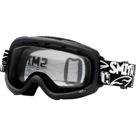 Ski When your little one starts ripping, foggy goggles can ruin a ski day in a hurry. The Smith Gambler Junior Series Goggle takes grown-up technology and puts it in a youth-sized package. The Dual Thermal Lens Technology keeps lenses clear for all-day fun. The Gambler is helmet- and eyeglass-compatible for fuss-free days on the hill. Smiths Youth Fit is designed to fit faces six and over. - $31.47
