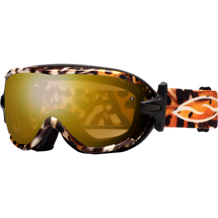 Snowboard Small frames no longer have to mean small field of view. Smith's new Virtue Goggle uses a frameless design for a modern style and increased peripheral vision. The Virtue has a small, feminine look but it easily hangs with the big boys when to comes to performance. - $83.97