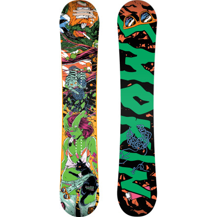 Snowboard Park features keep getting crazier and crazier every year, and you need a board that can keep up. The Smokin Superpark CTX Snowboard features Clash rocker, which has rocker between the bindings for a catch-free and playful feel, but also has camber outside the bindings so you can still pop off jumps and not wash out on landings. So drop in to any park knowing you have the tools to crush every feature. - $363.97