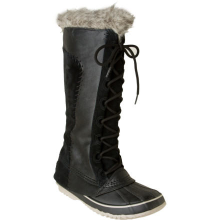 There's no reason to buy elegant winter boots if they're not also going to keep your feet warm. The main point of a winter boot, after all, is to have something cozier than your standard city boot. So Sorel crafted the Women's Cate the Great Boot with a vulcanized rubber shell, waterproof suede, and thick insulating felt inside. The result A luxurious-looking boot that will keep your feet warm in temps as frigid as -25 degrees Fahrenheit. You may not be able to decide what you appreciate more: the boot's fine aesthetic details like a faux fur cuff and lovely stitching, or its seam-sealed waterproof construction. But don't worry. You don't have to pick your favorite feature; you can just adore them all, all winter long. - $125.97