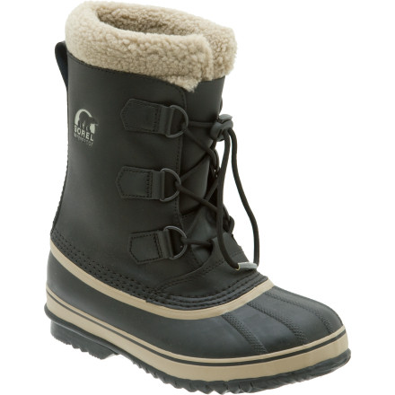 Give your little guy the classic protection of Dad\222s winter boots sized just for him with the Sorel Boys\222 Yoot Pac TP Boot. Made with seam-sealed waterproof leather and a super-warm recycled felt inner boot that\222s rated to 40 below zero, the Yoot Pac is ideal for building snow forts, sledding, or helping shovel the driveway. The vulcanized rubber sole and shell ensures he\222ll stay dry and comfortable on even the slushiest walks to school. - $41.97