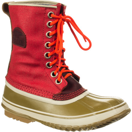 Sorel outfitted its Women's Premium CSV Boot with a toasty-warm wool liner and waterproof materials for those who want winter footwear that's a little extra-special. Slide your foot inside, lace up the front, and trudge out into winter weather without even glancing at the weather report. - $69.98