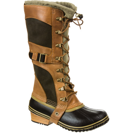 While Sorel's iconic Conquest Boot inspired the Conquest Carly Boot, the tall Carly has a more sophisticated look that speaks directly to fashion-oriented women. A tall shaft allows you to conquer deep snow, insulation keeps your toes warm, and the waterproof rubber shell shrugs off chilling, slushy puddles. Go for the Conquest Carly Boot and you'll never go back to your ankle-high winter footwear. - $131.97