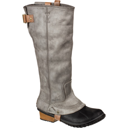 Ski The Sorel Women's Slimpack Riding Boot brings the elegant equestrian look to ski-town streets. These tall winter boots look like straight fashion but they're loaded with Sorel's signature protection so you're feet stay warm and dry all winter long. - $178.46