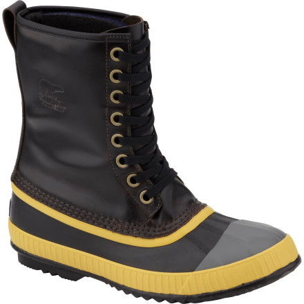 There's no school like the old school, and the Sorel Sentry Original Boots tap into vintage awesomeness to give your feet a masculine, rugged look while they keep them dry and warm. These boots first hit the scene in the early '60s, and Sorel has brought these classics back with updated tech to give your feet unstoppable style and a great feel. - $119.97