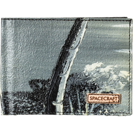 Entertainment Each Spacecraft Bob Ross Bi-Fold Wallet is a one of a kind work of art. Every wallet features a different oil painting for your viewing pleasure. - $20.97