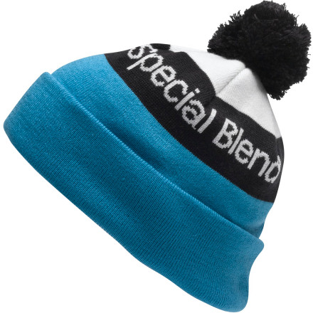 Snowboard We found this Special Blend Townie Beanie huddled up in a corner, talking to itself. It's warm and loves snowboarding. The townie is just a little crazy about snow. You guys will get along just fine. - $15.57