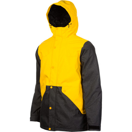 Snowboard With style that's as hard to ignore as getting stabbed with a sharpened toothbrush in the abdomen and 10K-waterproofing so effective it's criminal, the Special Blend Shank Jacket keeps you locked down and dry during all the time you will serve on the mountain. - $66.48