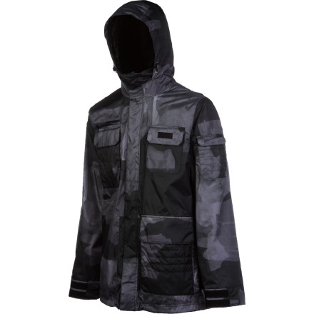 Snowboard Fight the war on foul weather and reap the powdery plunder with the military-inspired Special Blend Men's Utility Jacket. This utilitarian shell will launch you through the park with style and emerge victorious with no sign of saturation in sight. - $95.98