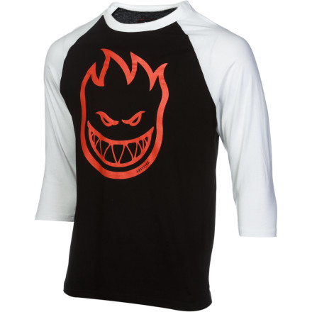 Skateboard Yes, Spitfire is a skate brand and the Men's Bighead #1 Jersey is three-quarters over awesome, but the best setting to unleash the evil fire face and number one is the beer league field. - $20.96