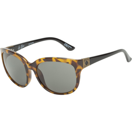Entertainment Offering all-day wearability, function, and comfort, the Spy Women's OMG! Sunglasses possess a style somewhere between retro cat-eyes and sport-savvy. The OMG! fits a small to a medium face, stays put with its slightly wrapped shape, and features a shatter-resistant and lightweight grilamid frame. - $84.95