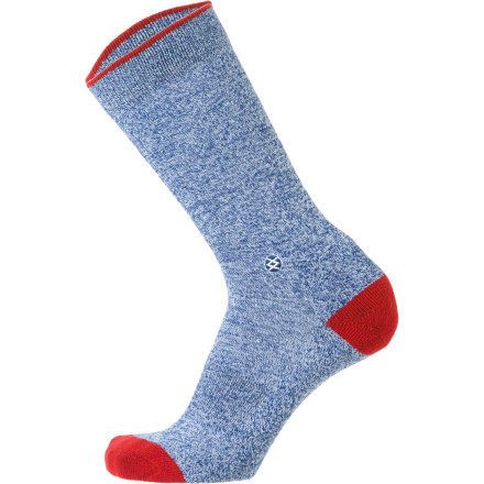 Just like your favorite blue jeans and a soft cotton T-shirt, the Stance Everyday Casual Heathered Sock has a classic fit and style for day-to-day life. Soft cotton fabric combined with polyester and spandex maintain the socks shape, while the reinforced heel and toe won't wear out as quickly. - $8.96
