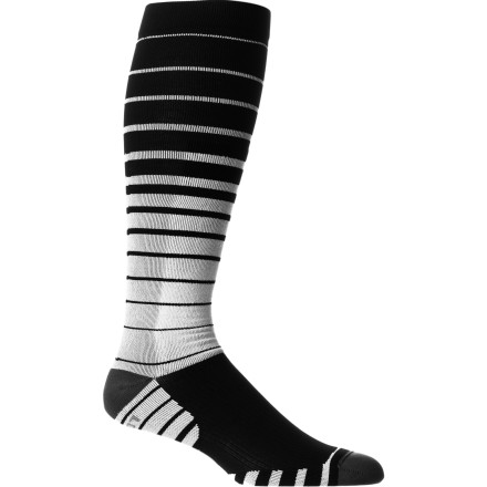 Snowboard Wrap your feet up in the Stance Python Premium Sock and feel the difference. It gradually decreases compression from the ankle towards the calf to promote blood circulation from your feet, keeping your them warmer and increasing the efficiency of your muscles. - $24.95