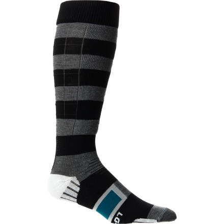 Snowboard Born deep in the Canadian backcountry, the Stance Baldface Snowboard Sock was designed to keep your feet warm and dry so you can focus on what's really importantshredding pow. - $24.95