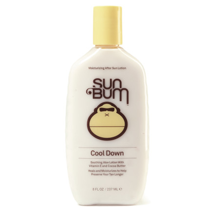 Snowboard You're stoked that you got a full day in the sun, but you skin is screaming at you. Soothe and hydrate your burns with Sun Bum Cool Down Moisturizing Lotion, loaded with Vitamin E to repair damaged skin. Tea Tree Oil adds healing power for optimal recovery so you can get back to hogging rays. - $11.95