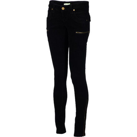 Look out, black leather: the SUPERbrand Women's SUPERcadet Cord Pants effectively turn corduroy into the new official fabric of sexy. These skinny corduroy trousers rock zippered accents for an aggressive girl-power vibe. - $43.98
