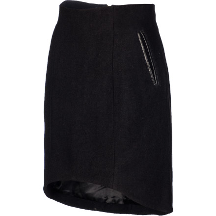 Look hot without sacrificing classiness in the SUPERbrand SUPERtux Women's Skirt. It's a classic high-waisted wool blend skirt with a back zip and an above-the-knee cut that works whether you're going clubbing or to a cocktail party. - $35.18