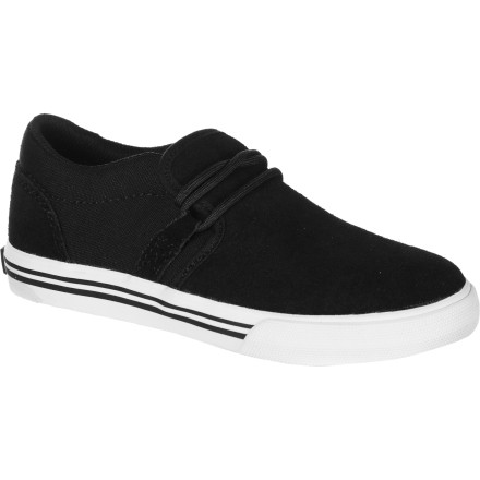Skateboard Low-pro slip-on style meets durable skate-shoe construction in the Cuban Youth Skate Shoe from Supra. - $27.97