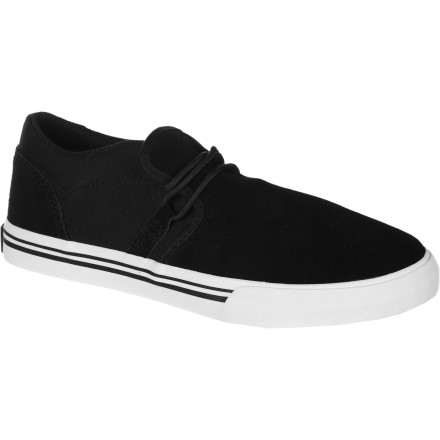 Skateboard Less bulk and more comfort make the Supra Kids' Cuban Skate Shoe great for just kicking it or riding your skateboard. Minimal lacing and a vulc sole make it casual while durable material stands up to blows against grip tape. - $29.22
