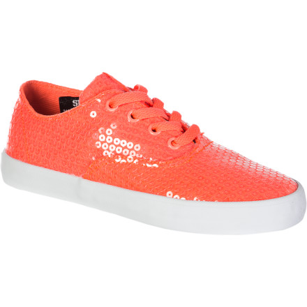 Skateboard Not a huge brain-buster, but the Supra Women's Wrap shoe is called so because of its close, wrap-like fit. This feminine twist on the skate sneaker is a perfect shoe for work, play, or just kicking around on weekends. - $29.98