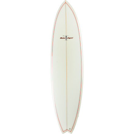 Surf Whether you're looking for a more advanced board or you happen to be a bigger dude looking to ride a smaller board, check out the Surftech Robert August Traveler Surfboard. This solid polyester board gives you the responsive touch and drive you need to slash turns off the lip and surf medium-sized waves like a pro. - $611.96