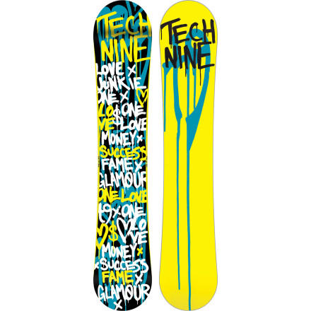 Snowboard The Technine one Love Snowboard hooks up a women's-specific shape and flex pattern for ladies who want to press boxes, spin off kickers, and lock into rails. The team-favorite Rock Steady Flat Camber profile offers a poppy ride with more stability than rocker designs, but fewer edge catches and easier presses than a classic camber board. Turn the entire mountain into your own personal park with the One Love's buttery yet powerful freestyle feel. - $209.97